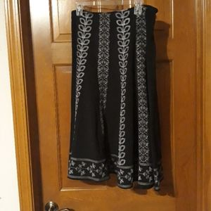 Black and silver embroidered skirt